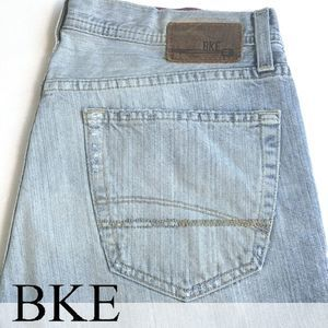 BKE Tyler Relaxed Bootcut Factory Faded Jeans